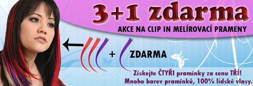 clip in akce 3+1 zdarma