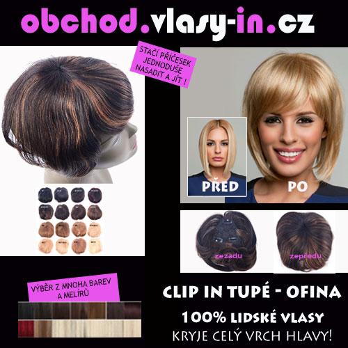2b47337c75b AKCE - tupé ofina z lidských vlasů - pro řídké vlasy a lysiny