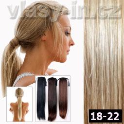 Culík - cop příčesek z rovných vlasů - světle hnědá popelavá blond ... 54584411ae