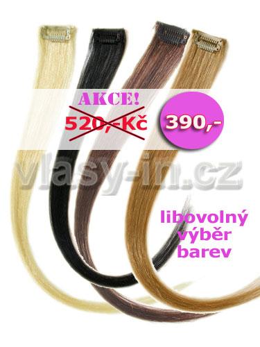 AKCE - 3+1 zdarma - 4 melírovací clip in prameny za cenu tří - délka 38cm, přírodní barvy