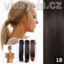 Culík - cop příčesek z rovných vlasů - přirozeně černá (#1B)