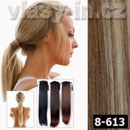 Culík - cop příčesek z rovných vlasů - hnědá/plavá blond (#8-613)