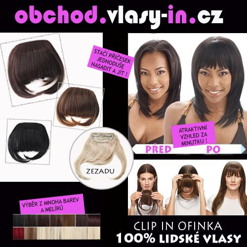 Clip in ofina - lidské vlasy - mnoho barev a melírů