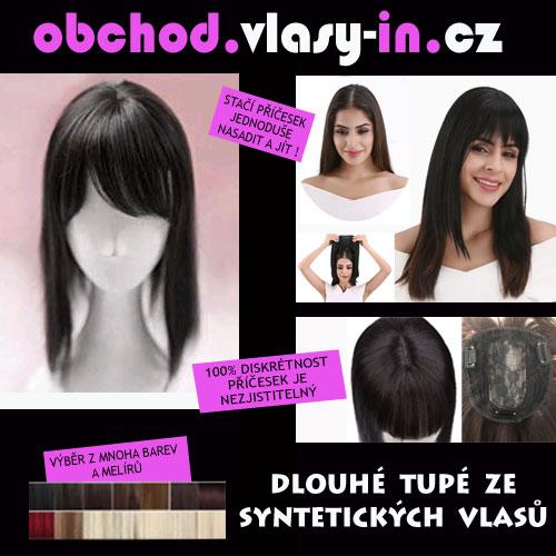 Tupé pro delší vlasy - syntetické - příčesek