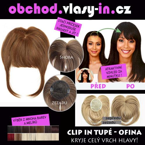 AKCE - tupé ofina - pro řídké vlasy a lysiny - mnoho barev a melírů