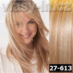 STANDARDNÍ clip in sada - medová blond/plavá blond (#27-613)