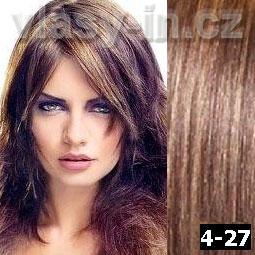 STANDARDNÍ clip in sada - středně hnědá/medová blond (#4-27)