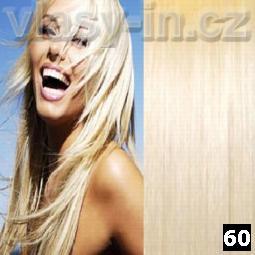 STANDARDNÍ clip in sada - nejsvětlejší blond (#60)