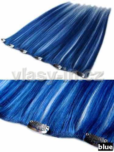 Melírovací clip in široký pás - modrá (#blue)