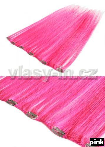 Melírovací clip in široký pás - růžová (#pink)