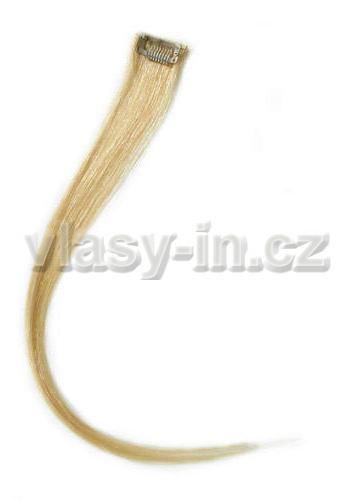 Melírovací clip in pramen - délka 38cm - blond přírodní  (#24)