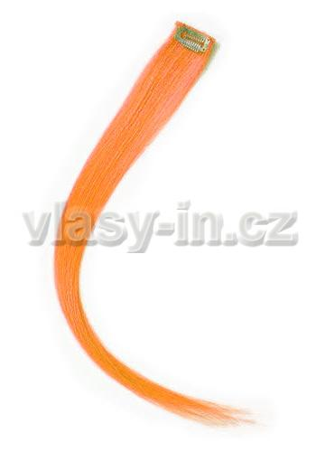 Melírovací clip in pramen - délka 20cm - oranžová (#orange)