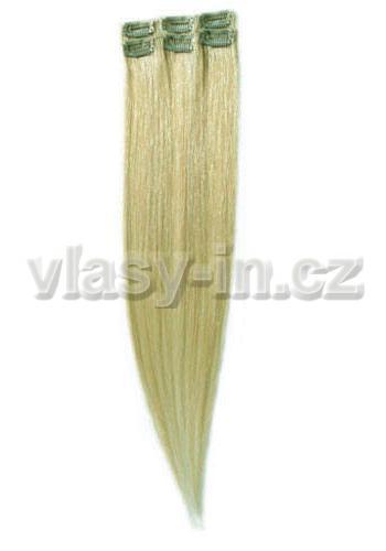 Sada 6ks clip in pramenů - blond popelavá  (#22)