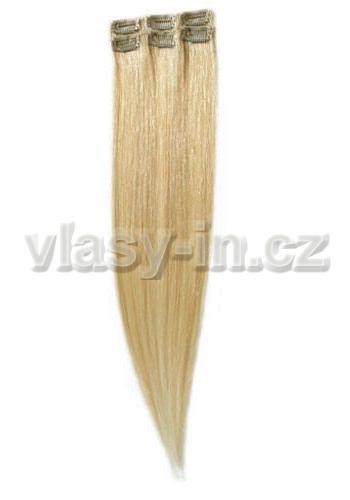 Sada 6ks clip in pramenů - blond přírodní  (#24)