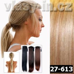Culík - cop příčesek z rovných vlasů - medová blond/plavá blond (#27-613)