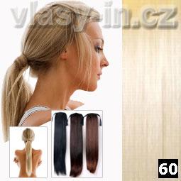 Culík - cop příčesek z rovných vlasů - nejsvětlejší blond (#60)