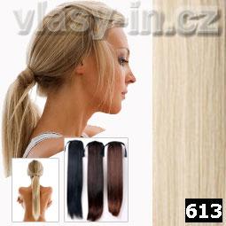 Culík - cop příčesek z rovných vlasů - plavá blond (#613)