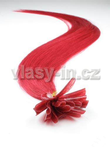 Prodlužování vlasů KERATINEM - 25 gramů-červená (#red)