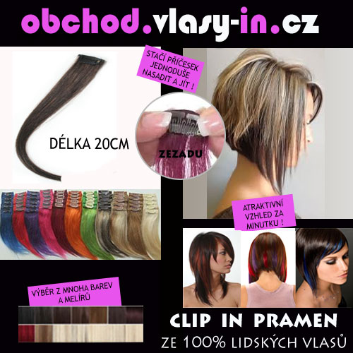 Clip in pramen - příčesek ze 100% lidských vlasů -20cm - pro mikáda