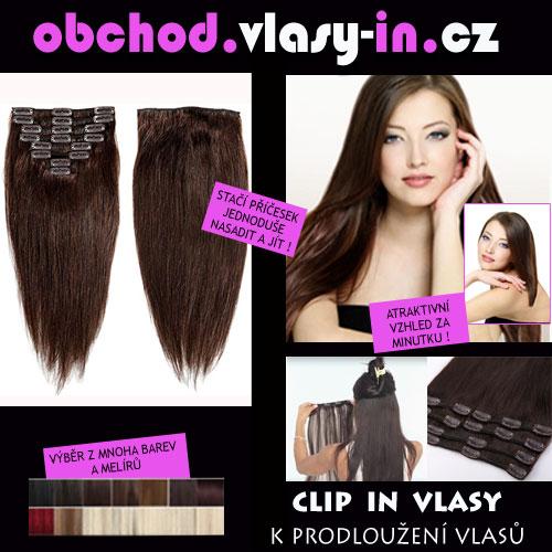 HUSTÁ clip in sada vlasů k prodloužení či zahuštění - příčesek