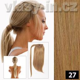 příčesek culík cop medová blond - lidské-vlasy