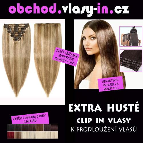 EXTRA HUSTÁ clip in sada k prodloužení vlasů - luxusně husté