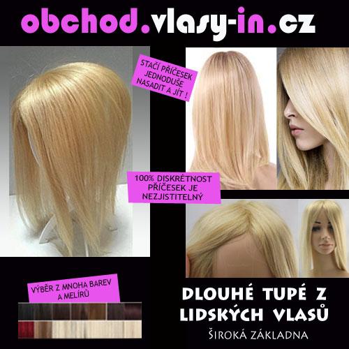 Blond tupé pro dlouhé vlasy - 100% lidské vlasy
