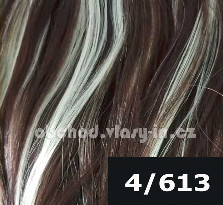 melír tmavě hnědá s blond