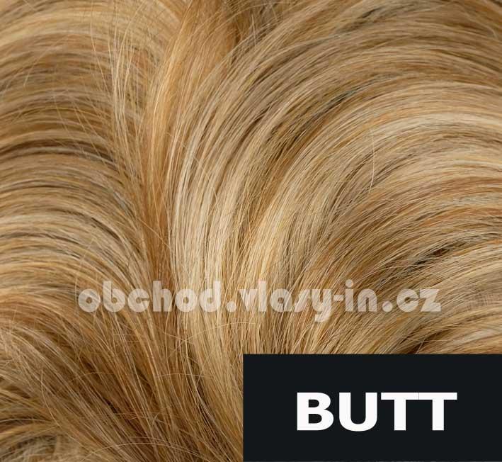 melír tmavě měděná, medová a světle blond