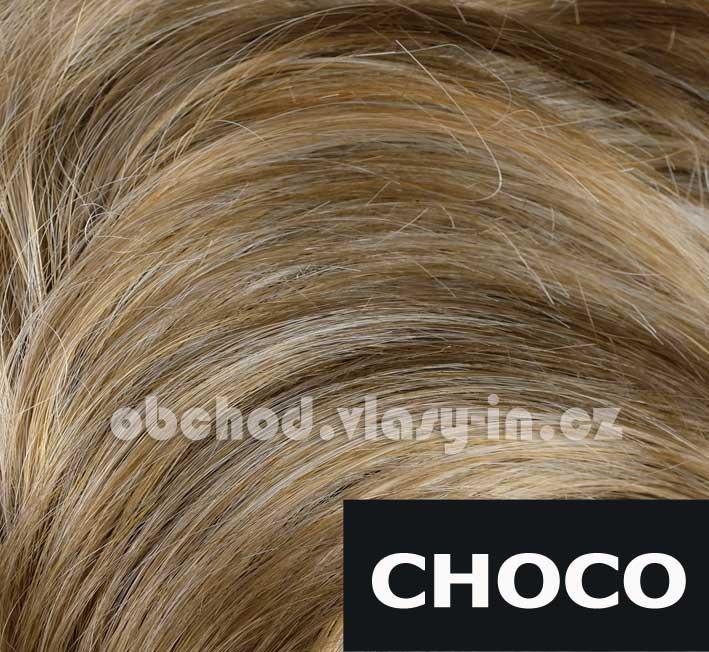 melír hnědé, medové a světle blond