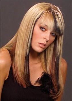 prodlužování vlasů clip in - hnědý melír