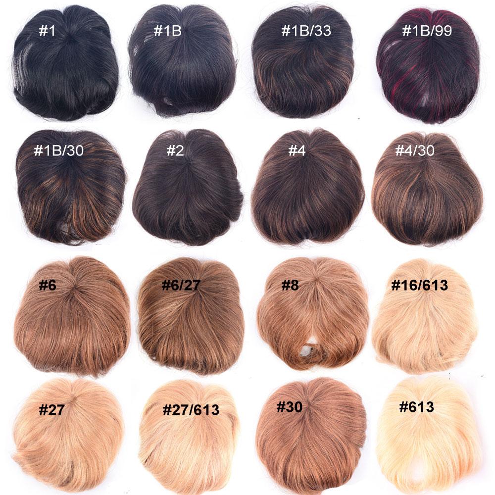 Přehled barev tupé ofinek - vzorník - lidské vlasy