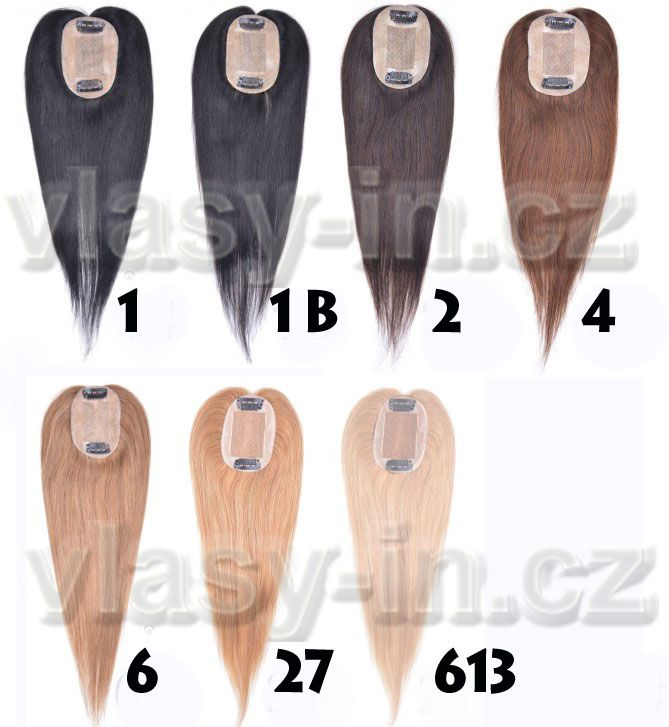 Vzorník barev tupé lidské vlasy