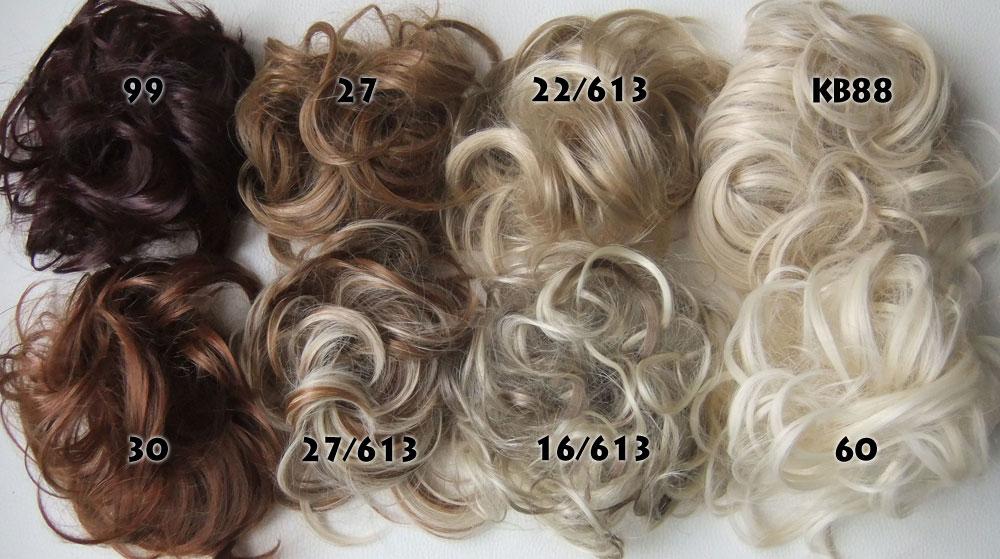 Přehled blond odstínů drdolů
