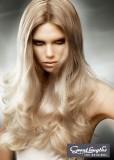 Něžné vlnky na  spodní polovině dlouhých vlasů