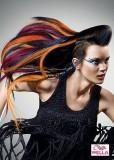 Ambiciózní výraz extravagance, spousta barevných pramenů a spletené copánky kolem uší