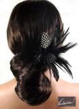 Účes z dlouhých vlasů, smotaných