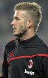 David Beckham - Zajímavý účes na temeni delší, na zbytku hlavy vystříhaný