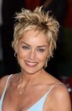 Sharon Stone - Nagelovaný vzhled krátkých vlasů blond barvy