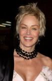 Sharon Stone - Moderní stylizace dovrchu na temeni hlavy na krátkých vlasech
