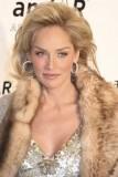 Sharon Stone - Rozfoukaný účes dovrchu z polodlouhých blond vlasů