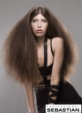 Mohutný objem velmi dlouhých nakrepacených vlasů