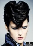 Elvisovská vlna z dlouhé ofiny na krátkých vlasech
