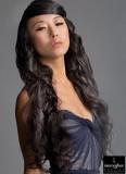 Mocná velmi dlouhá délka vlnitých vlasů