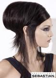 Tupírovaný styl drdolu z krátkých vlasů do společnosti