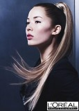 Luxusní culík z uhlazených dlouhých vlasů