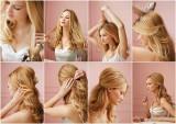 Fotonávod na částečný culík v blond vlasech