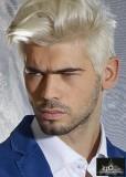 Pánský krátký účes blond barvy