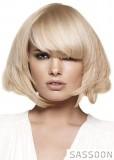Podkova z blond vlasů s ofinou