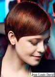 Uhlazené krátké melírované vlasy dohněda